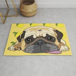 Pug Dog. When life gives you lemons, take a nap. Rug