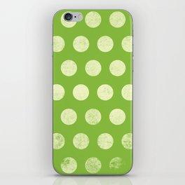 Polka Dots Mahogany Grain Green iPhone Skin