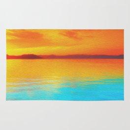 sunset beachh Rug