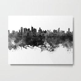 Makati skyline in black watercolor Metal Print