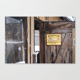 Sugar Shack Maple Products Canvas Print