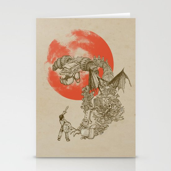 Junkyard Dragon  Stationery Cards