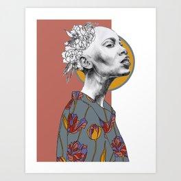 EBD Floral Illustration 3 Art Print