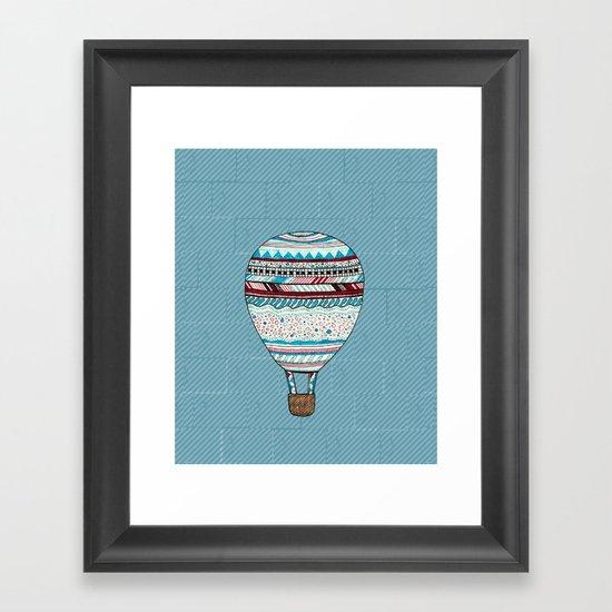Candy Balloon Framed Art Print
