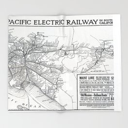 Pacific Electric Railway in Southern California Throw Blanket