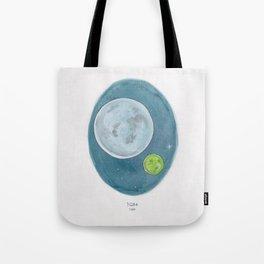 Watercolor Illustration of Haruki Murakami's novel 1Q84 Tote Bag