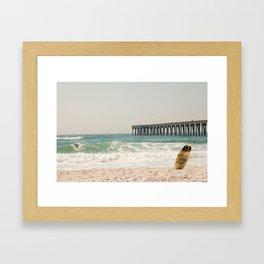 Surfs Up - Panama City Beach, FL Framed Art Print