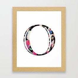 Butterfly Initial 'O' Print Framed Art Print