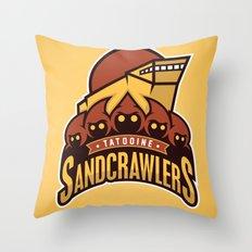 Tatooine SandCrawlers - Gold Throw Pillow