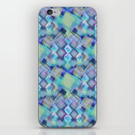 Tropical dream (Square Pastel  Blue Pattern) iPhone Skin