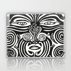 Maori Moko | Tribal Tattoo | New Zealand | Black and White Laptop & iPad Skin