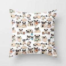 Pugsgym Throw Pillow