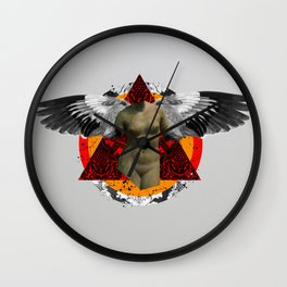 Wonder Wood Dream Mountains - The Demon Cleaner Series · Flying Marie Wall Clock