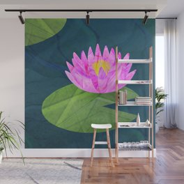 Pink Lily Pond Wall Mural