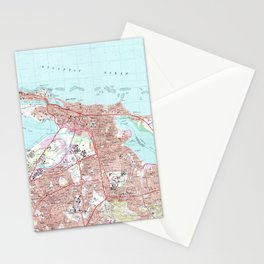 Vintage Map of San Juan Puerto Rico (1969) Stationery Cards