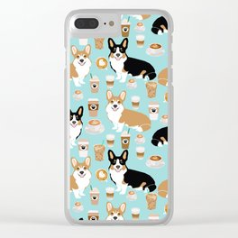 Corgi coffee welsh corgis dog breed pet lovers corgi crew Clear iPhone Case