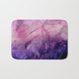Violet - Watercolor Painting in Ultra Violet Purple and Pink Bath Mat