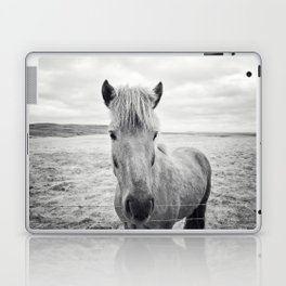 Horse Print | Black and White Rustic Horse Art Laptop & iPad Skin