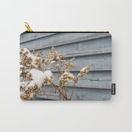 Snowy Flowers Carry-All Pouch