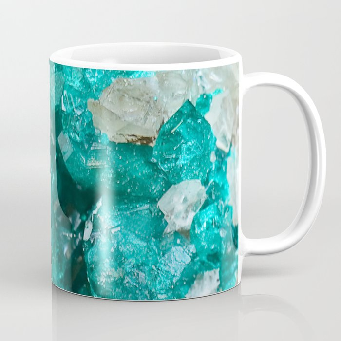 Teal Rock Candy Quartz Coffee Mug