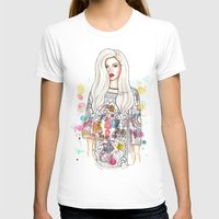 selena T-shirts featuring selena illustration by sparklysky