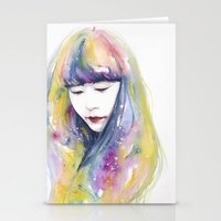 wallet Stationery Cards featuring lime nights by agnes-cecile