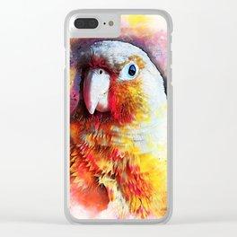 parrot art #parrot #animals Clear iPhone Case