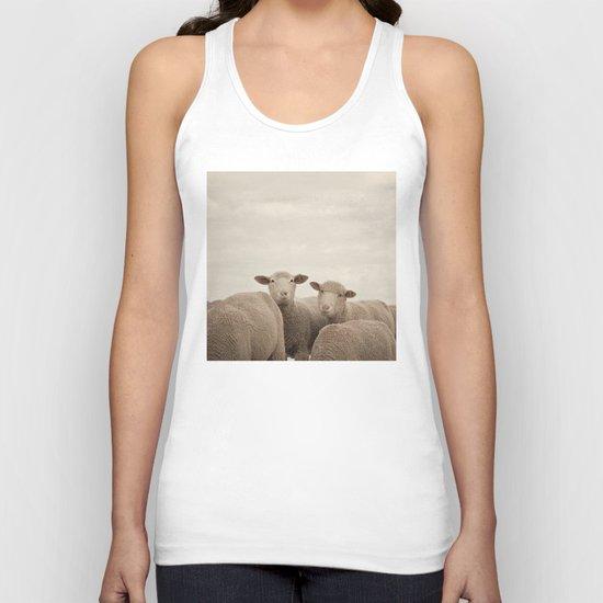 Smiling Sheep  Unisex Tank Top