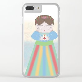 Fuerza Mexico by Mini Frida Clear iPhone Case