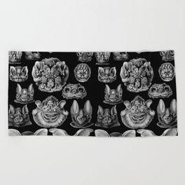 1904 Haeckel Chiroptera Beach Towel
