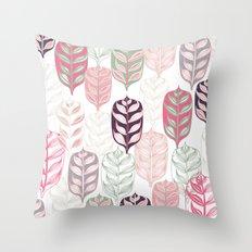 Leaf Print Throw Pillow