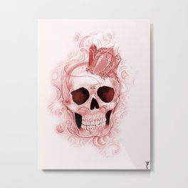 Sonho de Morte Redux (red) Metal Print