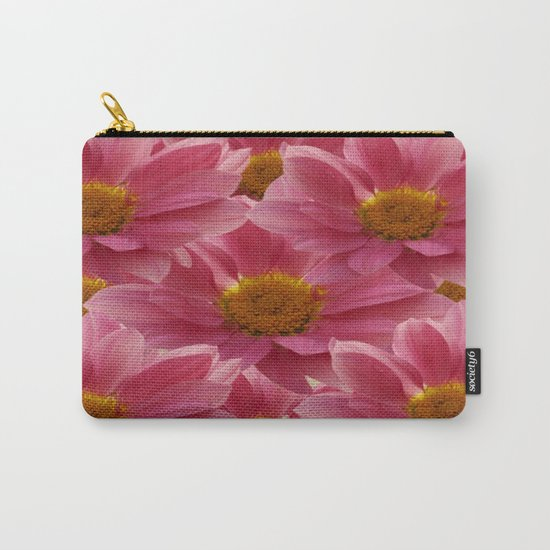 Pink Floral Bouquet Carry-All Pouch