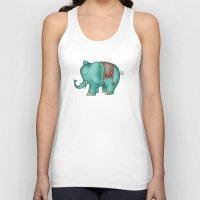 elephant Tank Tops featuring Elephant by Catru