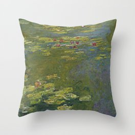 Claude Monet - Water Lily Pond 1919 Throw Pillow