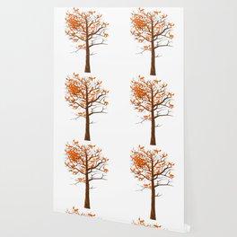 Blazing Fox Tree Wallpaper