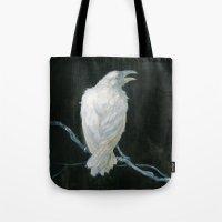 raven Tote Bags featuring Raven by Jana Heidersdorf Illustration