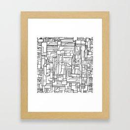 Electropattern(B&W) Framed Art Print