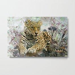 Lingering Leopard Metal Print