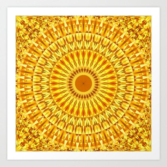 6f3d0891b7ce4 Hot Triangle Mandala Art Print by davidzydd | Society6