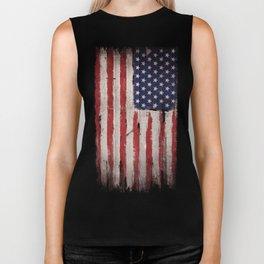 Wood American flag Biker Tank