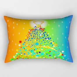 Ribbon Christmas Tree Rectangular Pillow