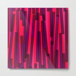 Geometric Pink Purple Painting Metal Print