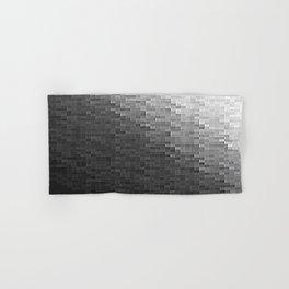 Gray Ombre Pixels Hand & Bath Towel
