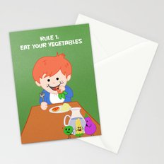 Rule #1: Eat your vegetables Stationery Cards