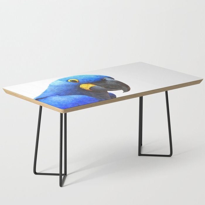 Blue Parrot Portrait Coffee Table