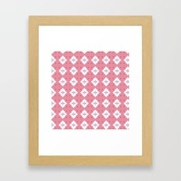 Abstract geometric pattern. Pink texture with rombuses Framed Art Print