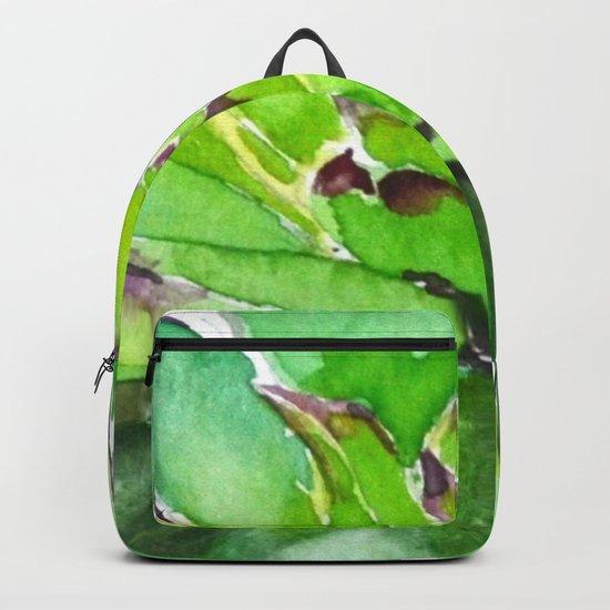 green succulent 3 Backpack