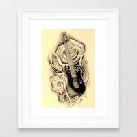 lip Framed Art Prints featuring LIP by 2ndwrath