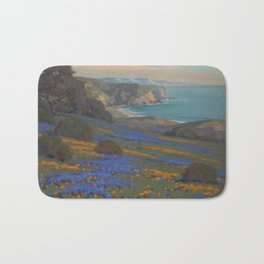 Spring Flowers, Poppies and Lupine, Goleta Point by John Marshall Gamble Bath Mat